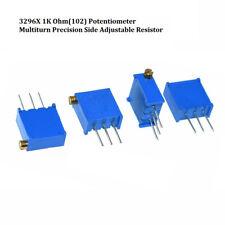 12Pcs Blue White 10K Ohm Resistance Adjustable Resistor gi