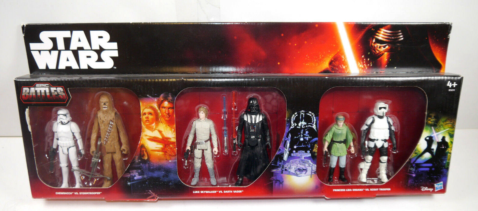 Star Wars Epic Battles B5011 6er Action Figure Set & Darth Vader Chewbacca