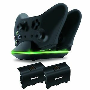 xbox one dual charging dock controllers charger 2x rechargeable batteries ebay. Black Bedroom Furniture Sets. Home Design Ideas
