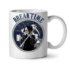 Break Time NEW White Tea Coffee Mug 11 oz | Wellcoda