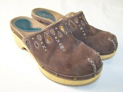 Comfort Shoes Conscientious Clarks Braun Wildleder Leder Slipper Freizeit Clogs Pantoletten Damenschuhe 7m Rich And Magnificent