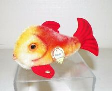 "VINTAGE STEIFF STUFFED ANIMAL FISH FLOSSY MINI 4"" EUC"