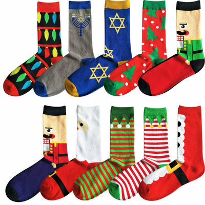 New Popular Christmas Cartoon Men Dress Socks Long Socks Winter Warm Thick Women