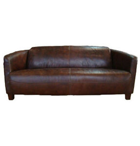 ledersofa rocket 3 sitzer vintage cigar leder sofa ledercouch clubsofa 3er neu ebay. Black Bedroom Furniture Sets. Home Design Ideas