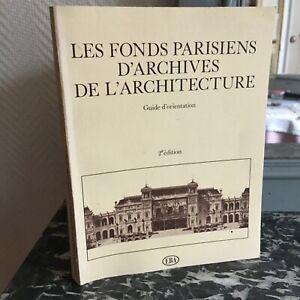 Las-Fondo-Parisinos-Archivos-Arquitectura-Guia-Orientacion-Ebay-1981