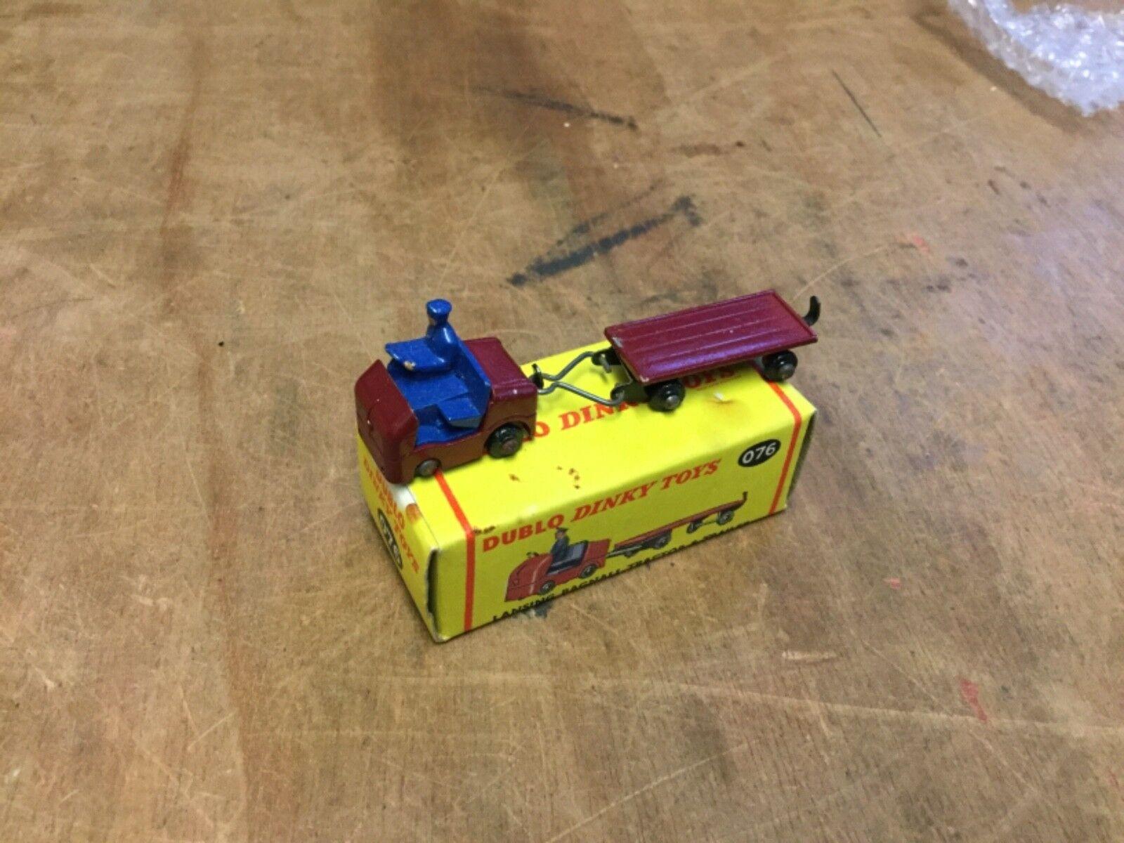Casete dublo Dinky 076 Lansing Bagnall tractor y remolque