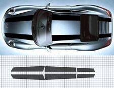 Porsche 911 (997)Bonnet /roof / Boot/ Spoiler Stripe Decal Set Plain. 911R style