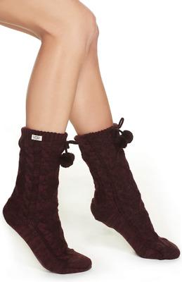 UGG 10719 Womens Cream Multistripe Sienna Short Rain Boot Socks One Size