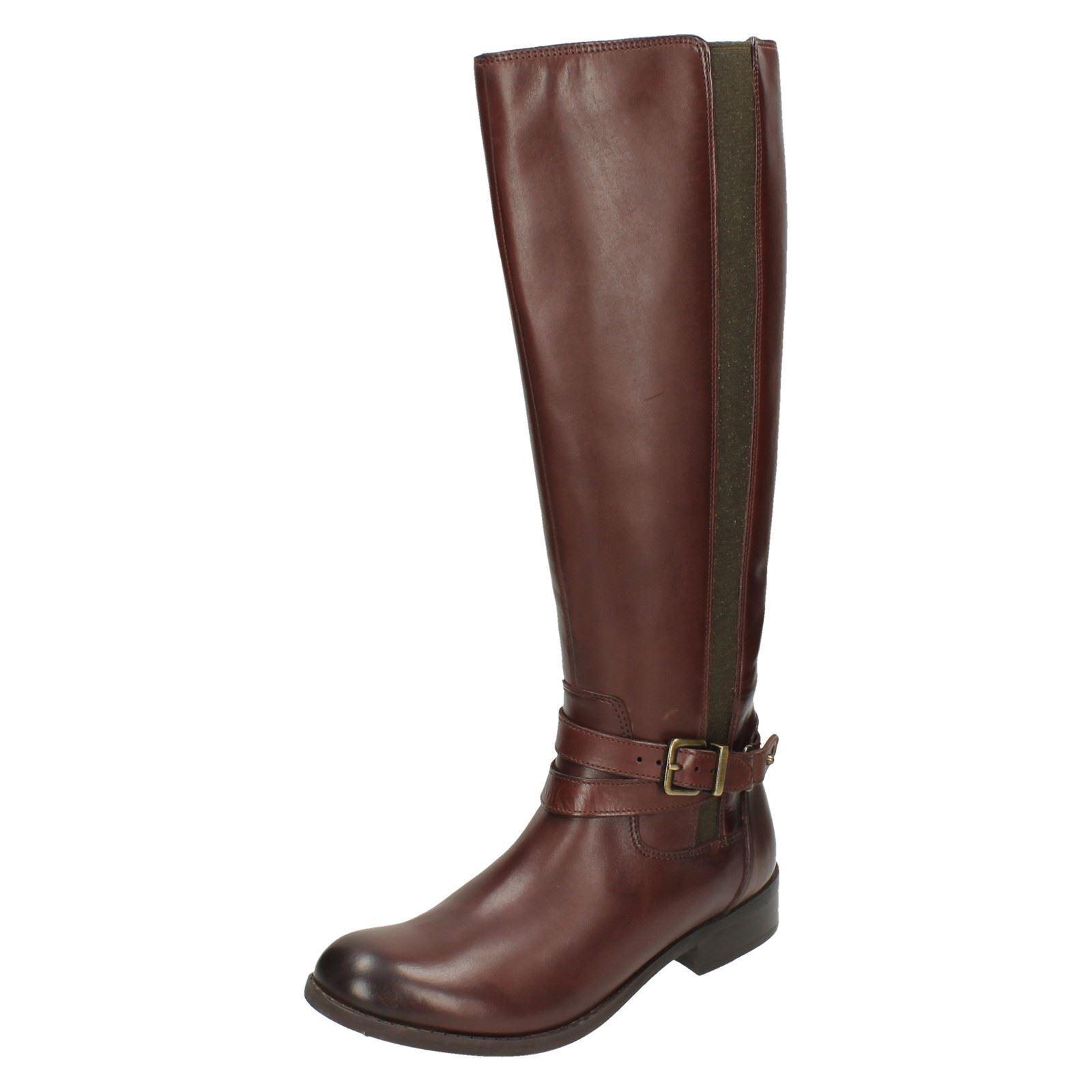 Ladies Clarks Knee High Boots Pita Vienna