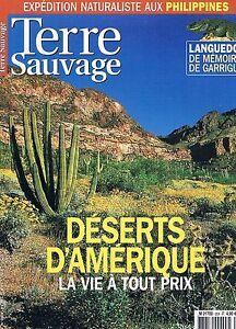 Terre Sauvage N°204 Avr 2005:deserts D'amerique Philippines Gaarrigue Sentier