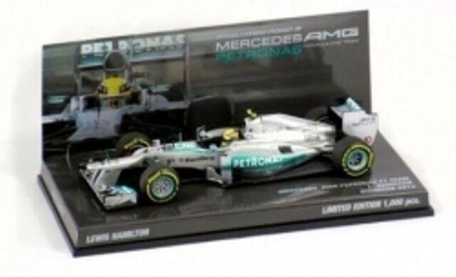 Minichamps 413 130180 MERCEDES AMG F1 modèle  Showvoiture Lewis Hamilton 2013 1 43 RD  100% authentique