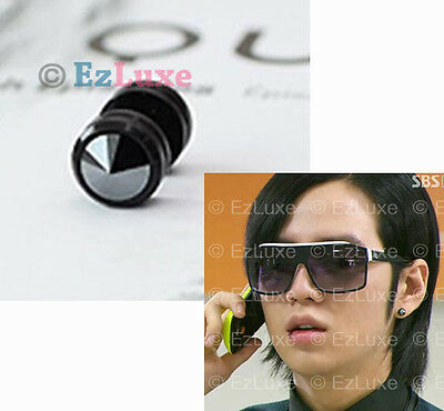 18g 1/4 Korean Drama YOU'RE BEAUTIFUL Guen Suk Piercing Shiny Black Round Stud