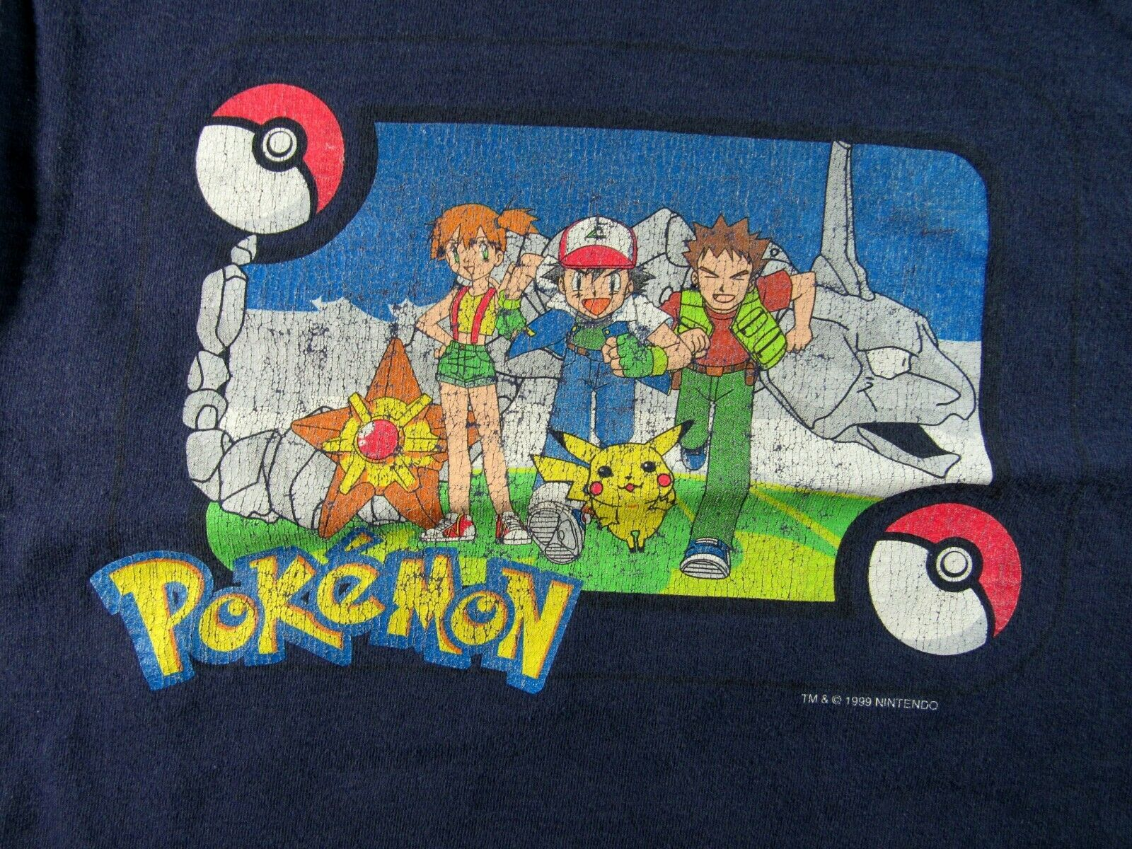 Vintage Youth Medium Size POKEMON Graphic T-Shirt