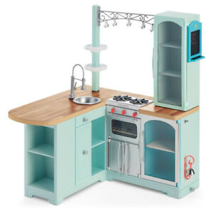 american girl doll kitchen American Girl Gourmet Kitchen Set Tons of Accessories | eBay american girl doll kitchen