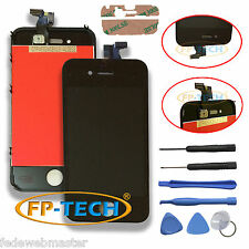 TOUCH SCREEN DISPLAY LCD RETINA SCHERMO E VETRO FRAME PER APPLE IPHONE 4S NERO