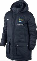 Nike Official Manchester City Padded/hooded Winter Jacket/coat L Xl