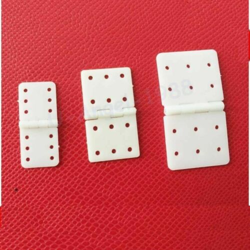 RC Airplane Plane Parts Model Replacement 20pcs Nylon Pinned Hinge Accessories