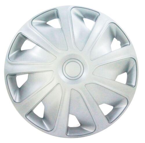 "4x Plata 15/"" pulgadas de profundo PLATO van rueda Adornos Tapacubos Para Peugeot Expert"
