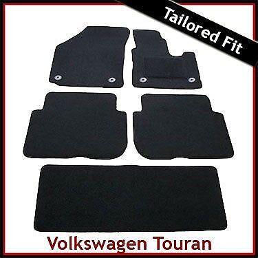 VW Volkswagen Touran Mk2 2010-2015 Totalmente a Medida Alfombra Alfombrillas De Coche Negro Equipada