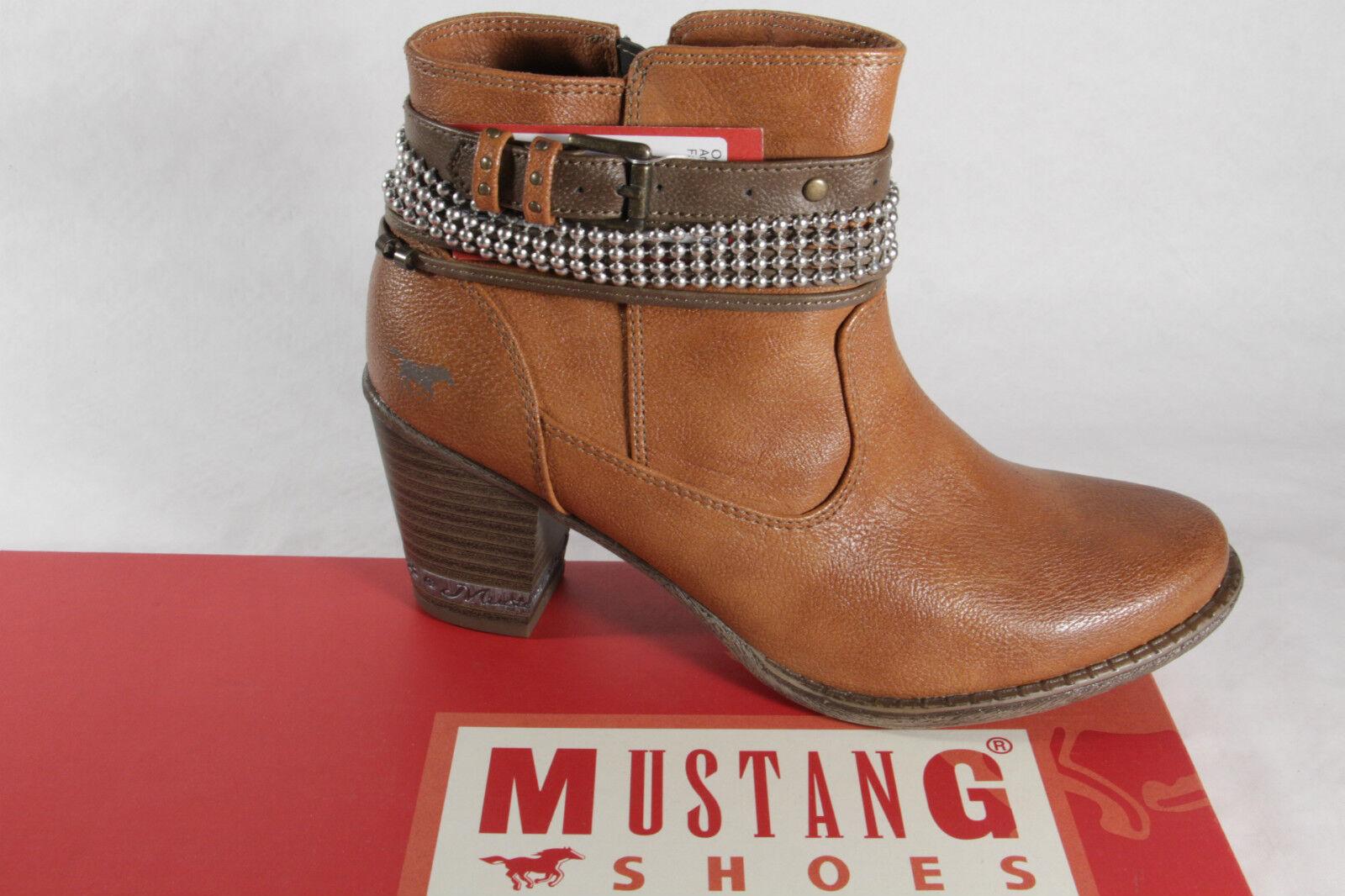 Mustang Stivali Donna Stivaletti, Marronee, Leggero Foderato Nuovo