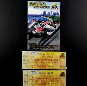 2003-Champ-Car-Indy-Racing-First-Grand-Prix-of-St-Petersburg-Fan-Guide-amp-Stubs