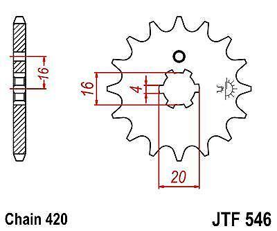 Yamaha PW80 Zinger 91-04 JT Front Sprocket JTF546 15 Teeth