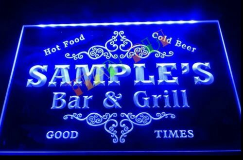 Custom Bar /& Grill LED Neon Sign Home Light Up Pub personalised and food beer