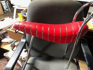 Banana-Seat-RED-24-034-sissy-bar-NO-POST-Schwinn-Columbia-ALL-METAL-PAN-bicycle