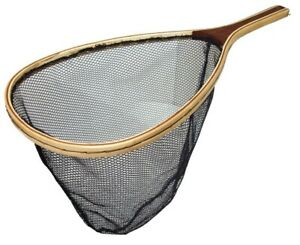 Dennett-Wooden-Trout-Scoop-Net-19-034-x-15-034-Game-Fishing-Mesh