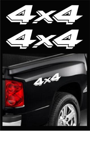 "DODGE DAKOTA OFFROAD STICKERS 2-PACK SIZE 3.25/"" X 13/"" WHITE 4X4 TRUCK DECALS"