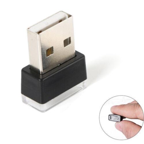 1Pc Flexible USB Mini LED Light Colorful Lamp For Car Atmosphere Lamp Bright