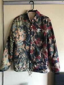 930f32912bccd Details about Adidas Pharrell Williams Hu Hiking Camo Coach Jacket Men's