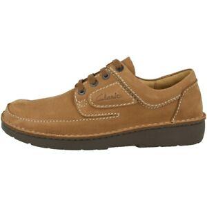 Details zu Clarks Nature II Schuhe Herren Halbschuhe Leder Freizeit Schnürschuhe 26142040