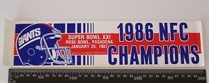 VINTAGE-GIANTS-NFC-CHAMPIONS-1986-SUPERBOWL-ROSE-BOWL-PASADENA-SOUVENIR-STICKER