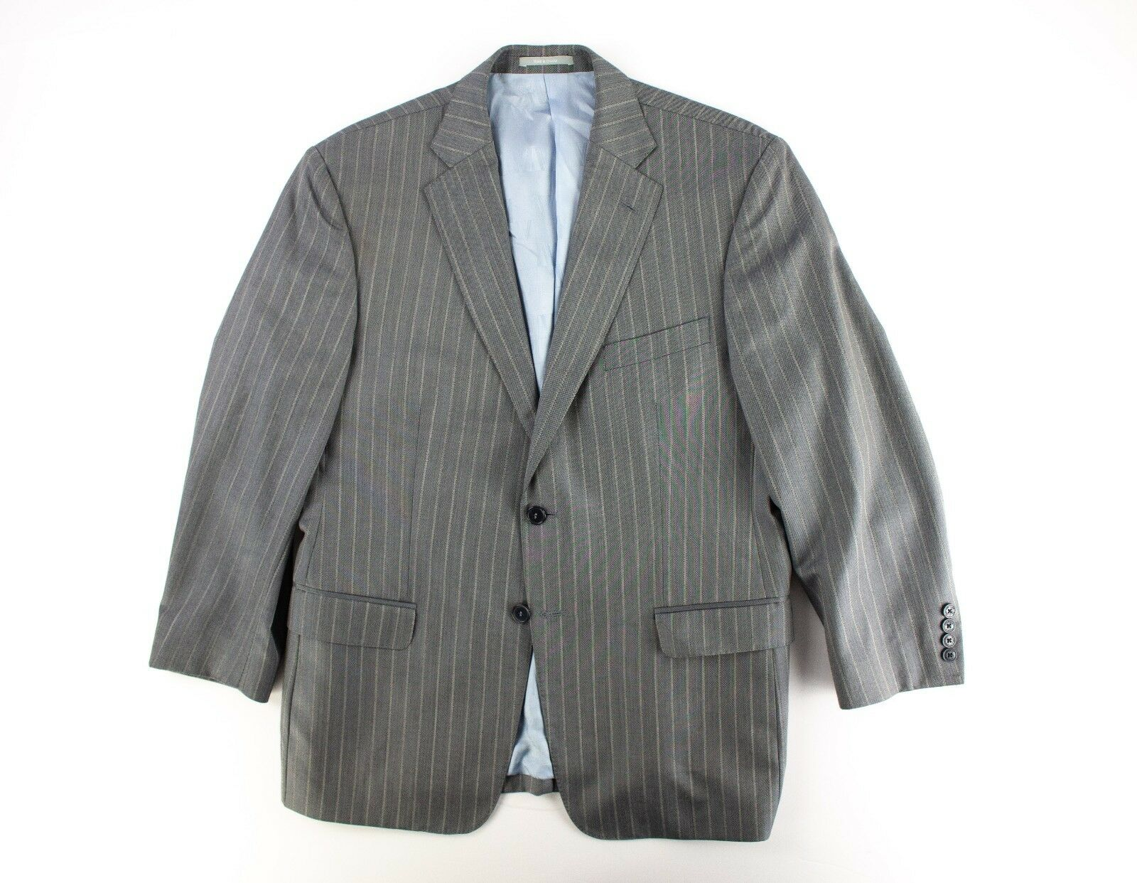 Versace City grau Striped Sports Coat Sz. 52 US 42 2 Vent 2 Button Slim Fit