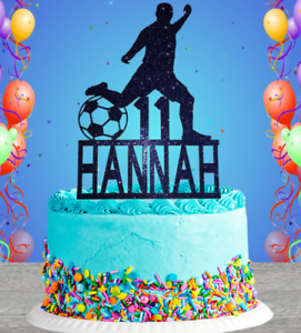 RANGERS GLASGOW Football Personalised BIRTHDAY Cake Topper PARTY TOPPERS glitter