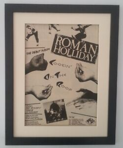 ROMAN-HOLIDAY-Cookin-On-Roof-Tour-1983-ORIGINAL-POSTER-AD-FRAMED-FAST-WORLD-SHIP
