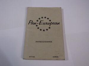 HONDA-ST1100-ST1100-1991-PAN-EUROPEAN-PAN-EUROPEAN-INSTRUCTIEBOEK