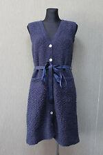 NOA NOA Damen Jacke Gr. XS Strickjacke / Kleid Wolle dunkelblau -28