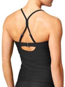 779fc65372545 NEW Athleta Tankini Bandeau T Back Bikini Top Bathing Suit Black 36 ...
