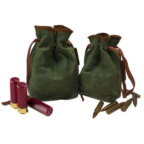 Ammo Bag Canvas Drawstring Cartridge Bag Rifle Shotshell Holder Storage Pouch