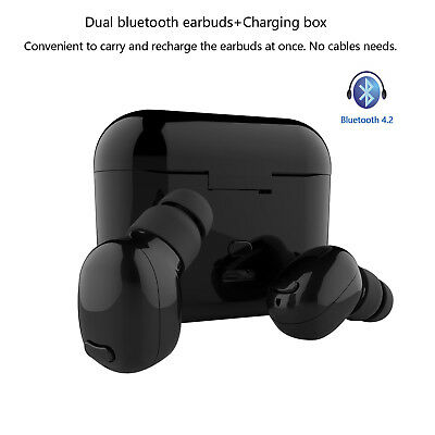 Dual Wireless Bluetooth Earbud Headset In-Ear Earphone for Apple iPhone X 8 7 LG