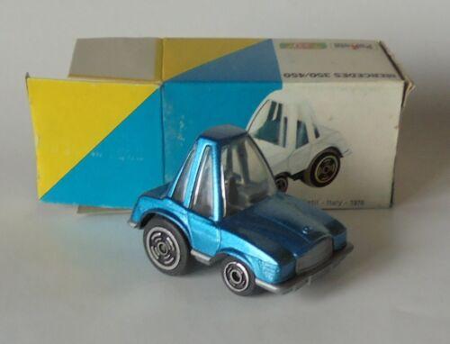 MERCEDES BENZ 350 450 Bleu 1975 Drôle Voiture CARICATURE Polistil 1976 1//55 MG 26