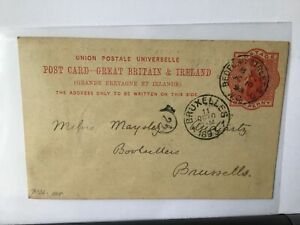 Macmillan & Co 1893 to  Booksellers Belgium stamps card Ref R25822