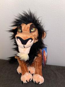 Disney Store The Lion King Scar Plush 14 New Ebay