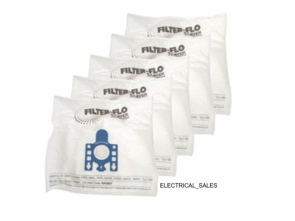 Details about FITS MIELE GN CLASSIC C1 JUNIOR POWERLINE SBAF3 DUST BAGS 5 PACK & FILTERS