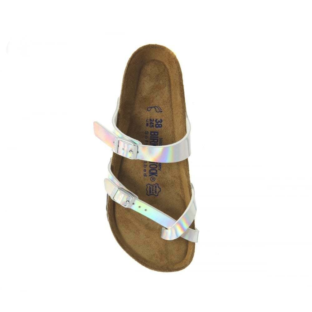 Ladies Girls Rose Birkenstock Mayari Birko-Flor Standard Fit Sandal Silver Rose Girls Gold 56c979