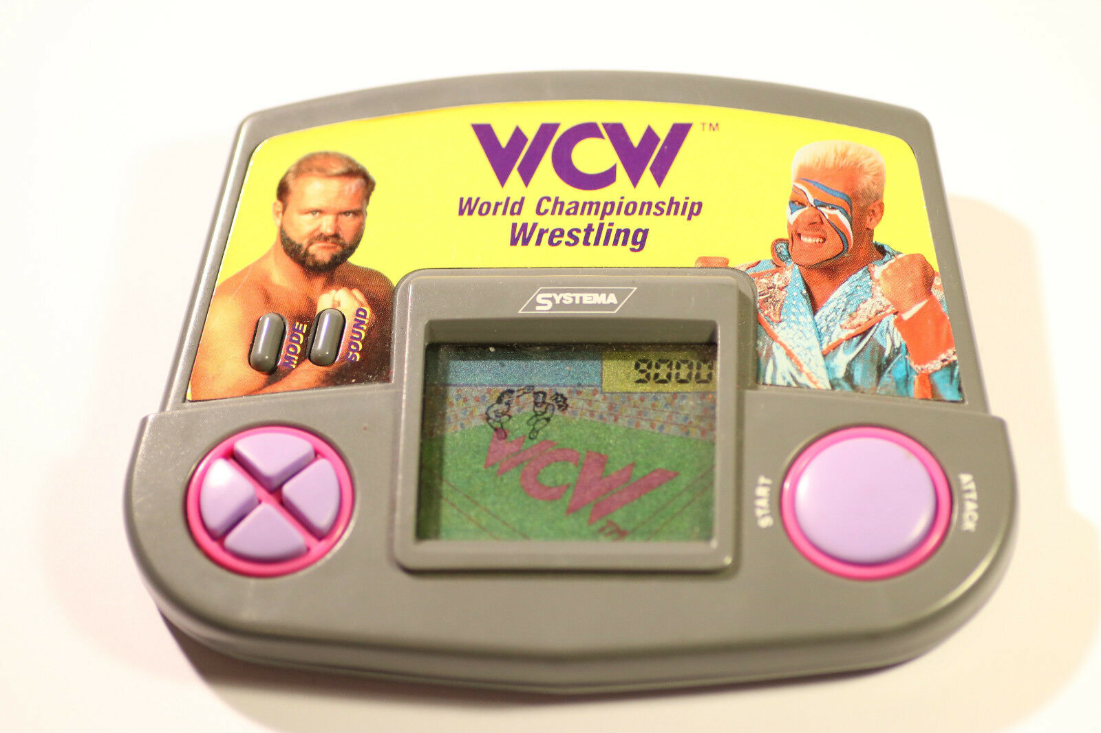 SYSTEMA WCW WORLD CHAMPIONSHIP WRESTLING LCD HANDHELD GAME 1992