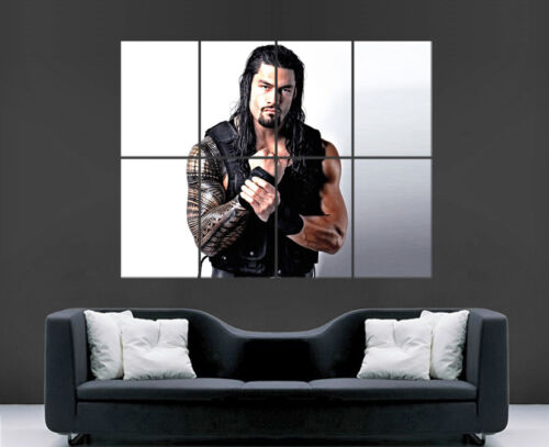 WWE ROMAN REIGNS POSTER WRESTLING WALL POSTER ART PICTURE PRINT LARGE  HUGE