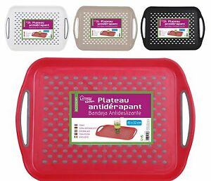 Large-45cm-Rectangle-Plastic-Non-Anti-Slip-Dinner-Serving-Lap-Tray-With-Handles